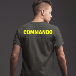Big Salute Commando Olive Green T shirt