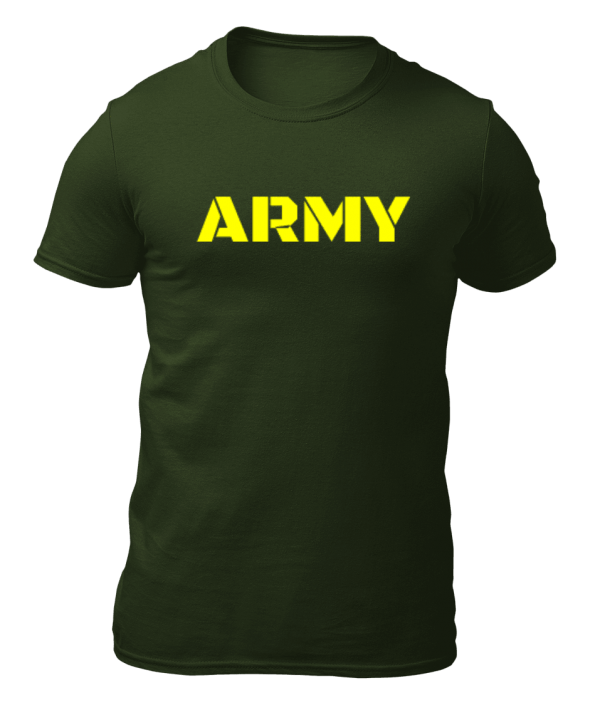 Big Salute ARMY Olive Green T Shirt