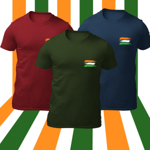 Big Salute Indian Flag T-Shirt
