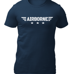 Big Salute AirBorne Star Wings Navy Blue