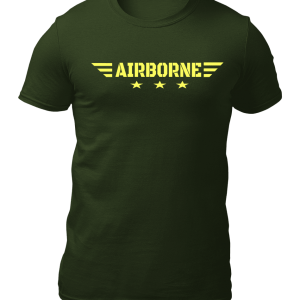 Big Salute AirBorne Star Wings Olive Green