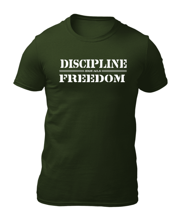 Big Salute Discipline Freedom T Shirt Olive Green
