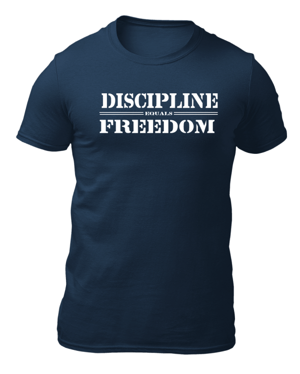 Big Salute Discipline Freedom T Shirt Navy Blue