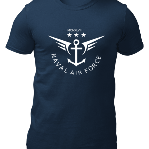 Big Salute Naval Force Navy Blue T Shirt