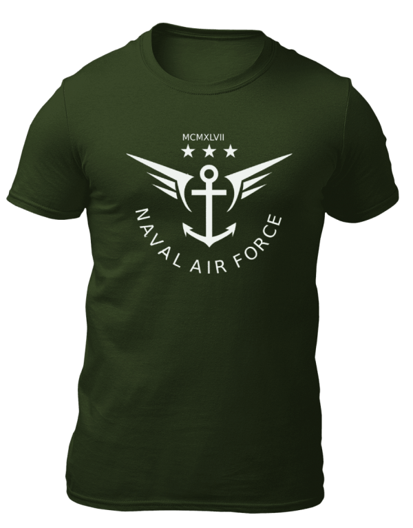Big Salute Naval Force Olive Green T Shirt