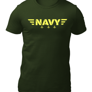 Big Salute Navy Star Wings Olive Green