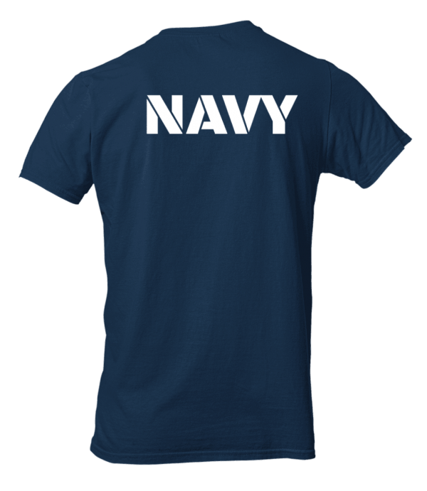 Big Salute Refuse To Sink Navy Blue T Shirt Back