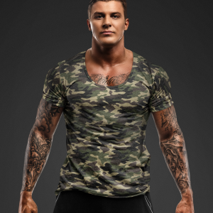Big Salute Camouflage Half Sleeve T Shirt for army (1)