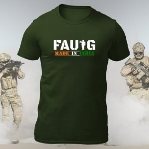 Big Salute Faug Tshirt Indian Army Green