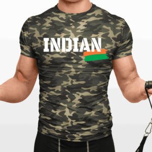 Big Salute Camouflage Indian T Shirt White