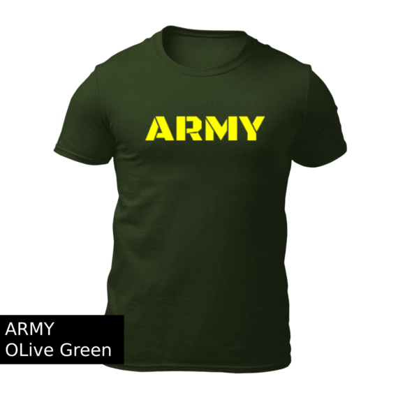 Big Salute ARMY Olive Green Combo Offer T Shirt
